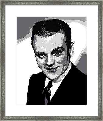 James Cagney - Pencil Framed Print by Doc Braham