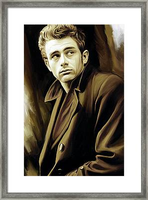 James Dean Artwork Framed Print by Sheraz A