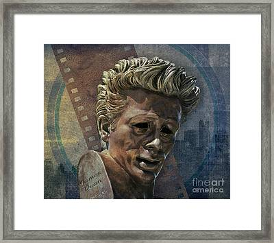 James Dean Framed Print by Bedros Awak
