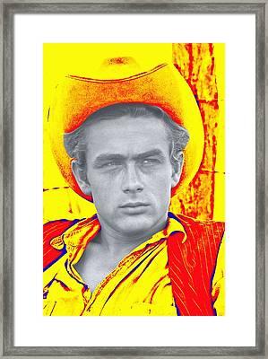 James Dean In Giant Framed Print by Art Cinema Gallery