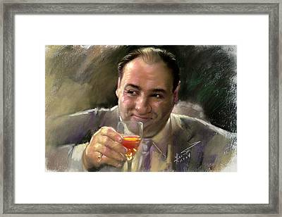 James Gandolfini Framed Print by Viola El