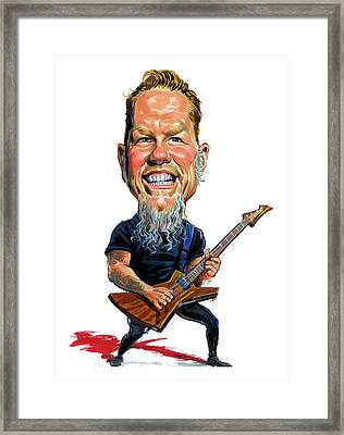 James Hetfield Framed Print by Art