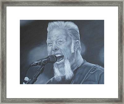 James Hetfield Metallica Framed Print by David Dunne