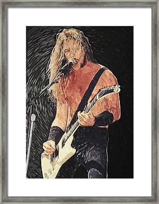 James Hetfield Framed Print by Taylan Soyturk
