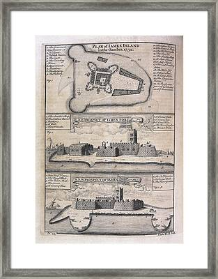 James Island And Fort Framed Print by British Library