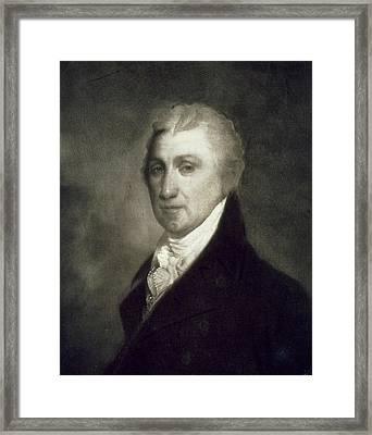 James Monroe Framed Print by American School