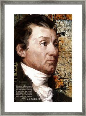 James Monroe Framed Print by Corporate Art Task Force