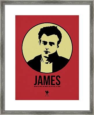 James Poster 2 Framed Print by Naxart Studio