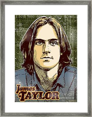 James Taylor Pop Art Framed Print by Jim Zahniser