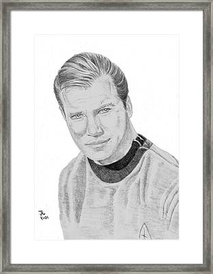 James Tiberius Kirk Framed Print by Thomas J Herring