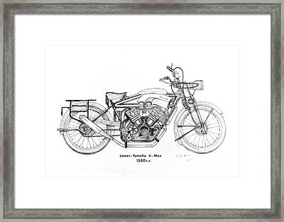 James-yamaha Vmax Framed Print by Stephen Brooks