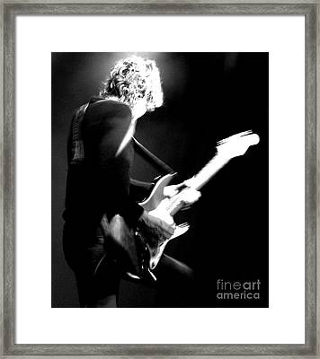Jamie West-oram - The Fixx - Guitar  Framed Print by Anthony Gordon Photography