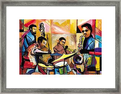 Jammin N Rhythm Framed Print by Everett Spruill
