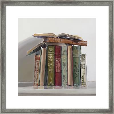 Jane Austen Framed Print by Gail Chandler