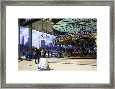 Jane's Carousel 2 In Dumbo - Brooklyn Framed Print by Madeline Ellis