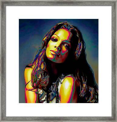 Janet Jackson Framed Print by  Fli Art