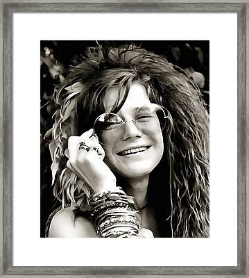 Janis Framed Print by Dan Sproul