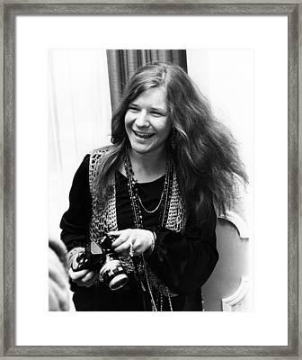 Janis Joplin 1969 Framed Print by Chris Walter