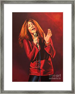 Janis Joplin Painting Framed Print by Paul Meijering