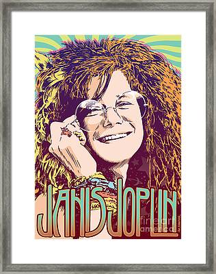 Janis Joplin Pop Art Framed Print by Jim Zahniser