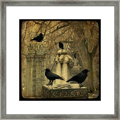 January Darkness Framed Print by Gothicolors Donna Snyder