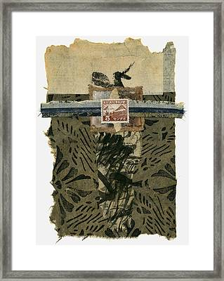 Japan 1943 Collage Framed Print by Carol Leigh