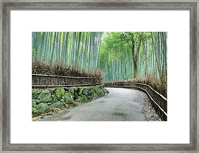 Japan, Kyoto Road Framed Print by Jaynes Gallery