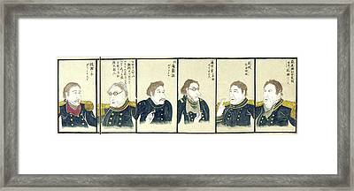 Japan Perry's Officers Framed Print by Granger