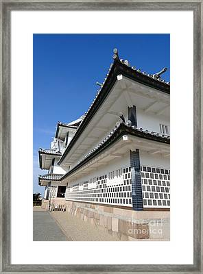 Japanese Castle Close-up Framed Print by David Hill