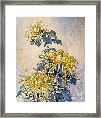 Japanese Chrysanthemum Series Part 2 Autumn Framed Print by Irina Effa