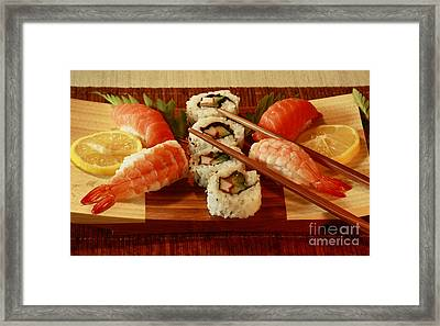 Japanese Cuisine Framed Print by Inspired Nature Photography Fine Art Photography