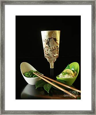 Japanese Fine Dining Framed Print by Inspired Nature Photography Fine Art Photography