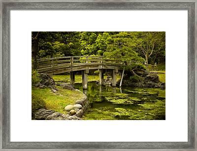Japanese Garden Tokyo Framed Print by Sebastian Musial