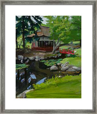 Japanese Gardens Framed Print by Chris Breier