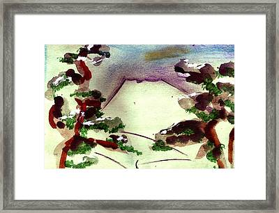 Japanese Mountain 2 Framed Print by Seb Mcnulty