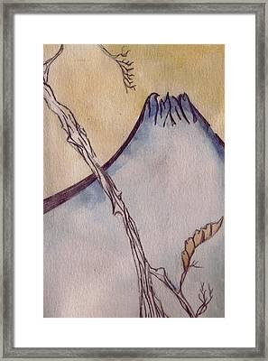Japanese Mountain Framed Print by Seb Mcnulty