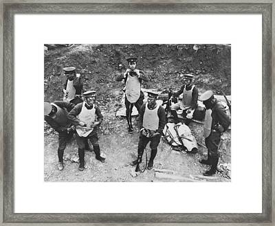 Japanese Rescue Chinese Framed Print by Underwood Archives