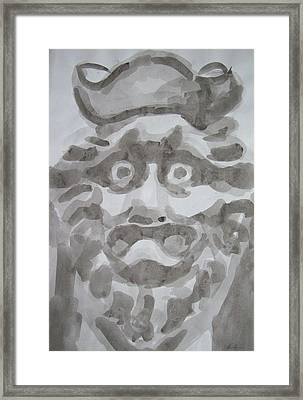 Japanese Stare Framed Print by Alan Hogan