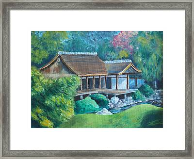 Japanese Tea House Framed Print by Joseph Levine