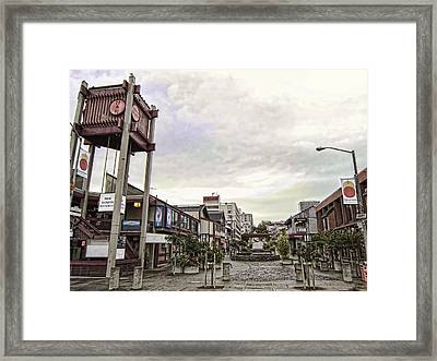Japantown - Nihon Machi - San Francisco Framed Print by Daniel Hagerman