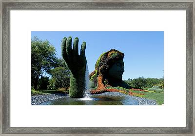 Jardin Botanical Garden In Montreal Framed Print by Mountain Dreams