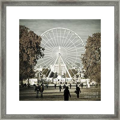 Jardin Des Tuileries Park Paris France Europe  Framed Print by Jon Boyes