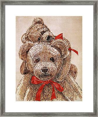 Jared's Bears Framed Print by Linda Simon