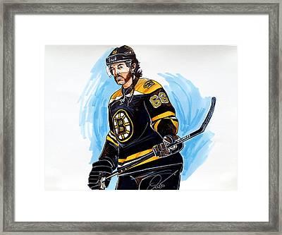 Jaromir Jagr Boston Bruins Framed Print by Dave Olsen