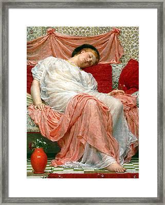 Jasmine Framed Print by Albert Joseph Moore