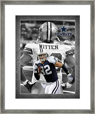 Jason Witten Cowboys Framed Print by Joe Hamilton