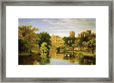 Jasper Francis Cropsey, Warwick Castle, England Framed Print by Quint Lox