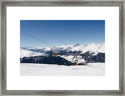 Jatz Jakobshorn Davos Mountains Piste Framed Print by Andy Smy