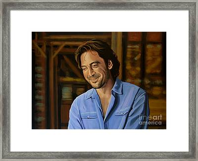 Javier Bardem Painting Framed Print by Paul Meijering