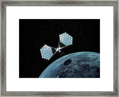 Jaxa Solar Power Orbiter Framed Print by Mikkel Juul Jensen
